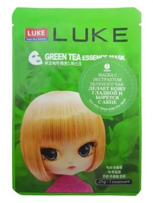 Маска с экстрактом зеленого чая 4Skin LUKE Green Tea Essence Mask 21г.: фото